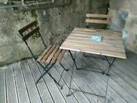SOLD Garden Table + 2 chairs