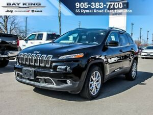 2017 Jeep Cherokee LIMITED 4X4, GPS NAV, PANO SUNROOF, BACKUP CA
