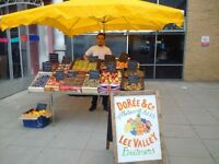 Fruit nut required to bring our new stall outside Homerton Hospital to maturity