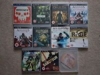 11 PS3 games all great condition no scratches.