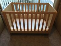 Mamas & Papas three-piece nursery furniture set.