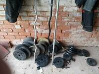 Various weights collars and bars
