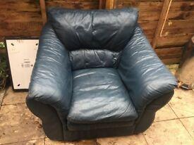 Big leather armchair