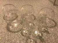Clear glass flower vases