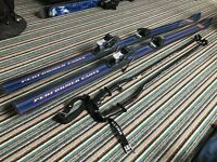 SET OF SKIS WITH XX BINDINGS & POLES