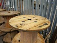 Reclaimed cable drums for up cycle into tables displays etc various