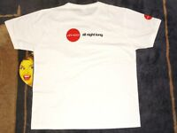 Designer Clothes - Jt's Ultimate White AYGO All Night T-Shirt Size: L