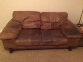 LEATHER SOFAS , 2x2 SEATERS.... FREE TO A GOOD HOME....