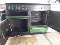 Leisure rangemaster 110 cooker in green