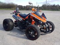2016 250CC ORANGE ROAD LEGAL QUAD BIKE VERY GOOD CONDITION WITH REVERSE - CAN DELIVER SPY YAMAHA