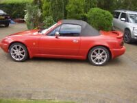 MX5 MK1 Roadster colour (red). 1.6 Petrol engine. MOT Dec. New hood 3yrs ago.