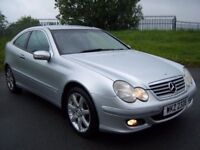 05 MERCEDES C220 CDI *AUTO* SPORTS COUPE FULL LEATHER LIKE A3 GOLF ASTRA FOCUS 320D AUTOMATIC