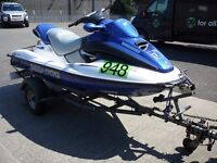 SEADOO GTX MILLENIUM LIMITED EDITION 3 SEATER JETSKI , 1000cc, COMPLETE WITH COVER & TRAILER