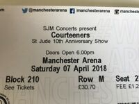 Courteeners tickets x 2 - seated - SOLD OUT gig Manchester Arena 7th April