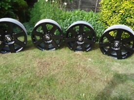 4 x 17 BLACK ALLOY WHEELS Will FIT RENAULT Trafic/VIVARO/ VW T5-T6