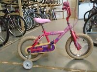 GIRLS MAGNA PRECIOUS BIKE 14 INCH WHEELS+STABILISERS