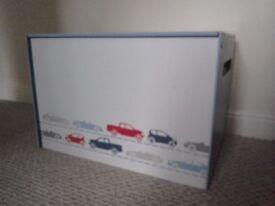 Children's Toy Chest car design Bedroom toy storage