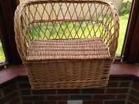 Wicker clothes basket and child's toy store bench £5 each