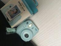 Blue Polaroid Camera - Fujifilm Instax Mini 8