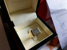 9ct Solid Gold Diamond Ring