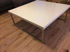 Coffee table and matching TV unit- white gloss