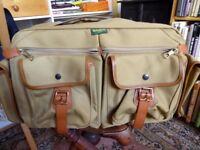 Billingham 550 Camera or Travel Bag - Khaki Canvas/Tan leather, Unused