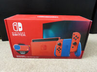 Very Rare Special Limited Edition Nintendo Switch Super Mario Red & Blue Edition
