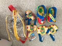 Noddy quad skates with knee and elbow pads immaculate