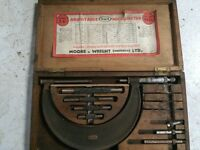 Adjustable micrometer set (vintage) in original box