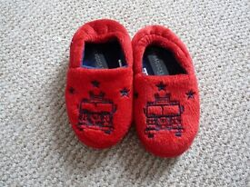 Brand new boys red slippers size 8 from Peacocks