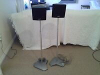 Alphasson chrome finish speaker stands with 2 x Philips speakers