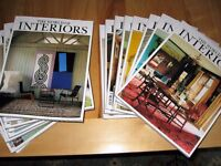 WORLD OF INTERIORS MAGAZINES-16 ISSUES V. GOOD CONDITION