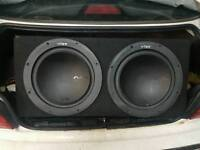 "2 x 12"" Vibe slick subs in box"