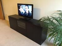 IKEA BESTA TV bench black-brown