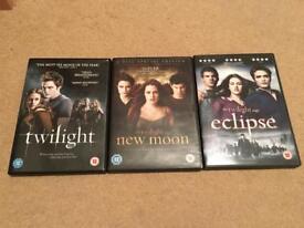 Set of 3 Twilight Saga DVDs