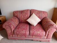 FREE X2 RED GOLD 2 seater sofas. Clean good condition
