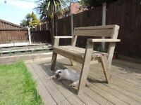 Handmade garden bench / garden furniture