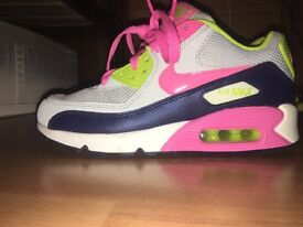 Worn once women's Nike air trainers 4.5
