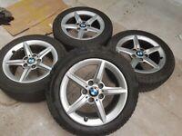 """16"""" BMW Genuine 1-Series 2-Series 3-Series Wheels GOODYEAR 4-SEASON TYRES...BARGAIN!!!"""
