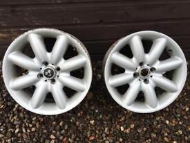 "2 X Mini Cooper S 17"" wheels"