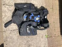 scuba diving gear for sale - BCD vest, fins, boots, gloves