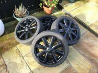 4 bmw mini cooper s wheels with tyres 205- 45 -17