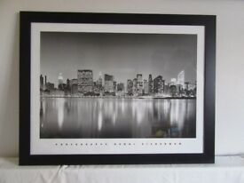 Henri Silberman New York picture print in bespoke black wooden frame