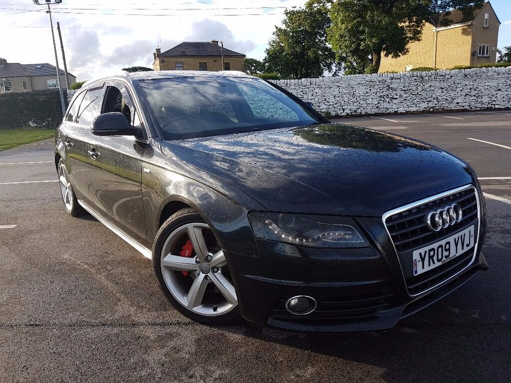 2009 audi a4 avant 2 0 tdi s line 170 bhp black b8 estate diesel cheap 320d m sport gt tdi in. Black Bedroom Furniture Sets. Home Design Ideas