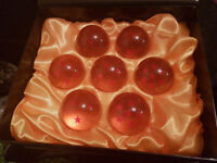 VERY RARE full size Dragon Balls set with high quality display box! Imported from Japan!