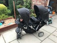 Graco tandem double pushchair stroller