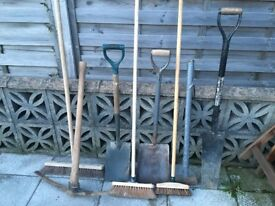Shovel/Spades/Brushes/Pick/Sledge (Good working order)