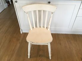 Set of 4 shabby chic chairs