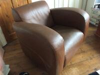Tan Leather Armchair