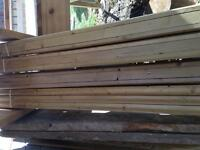 Deck railing for tube spindles.